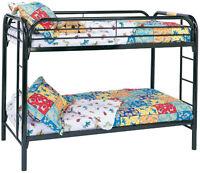 BRAND NEW - BLACK TWIN / TWIN METAL BUNK BED