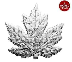 Brand New Fine $20 Silver Coin – The Canadian Maple Leaf (2015)
