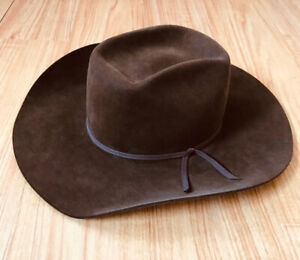 Smithbilt Felt Cowboy Hat Size 7 1 4 chocolate brown fbb78fe04206