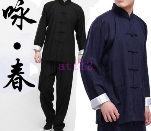 Details about 2019 Chinese Tai Wing Chun Kung Fu Chi Uniforms Martial Arts  Suit Wushu Clothing