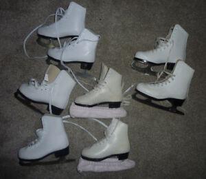 Figure skates, kids sizes 12, 13, 2 and 3, $ 15 per pair