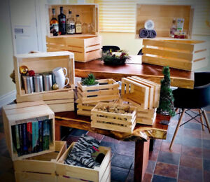 Caisse/ boite de bois plusieurs grosseurs