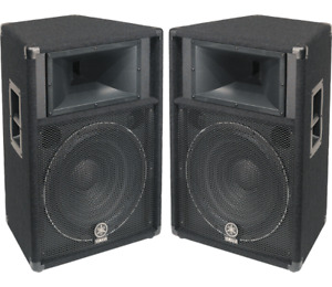 Awesome 3400 watt PA system with cases, lights and stands