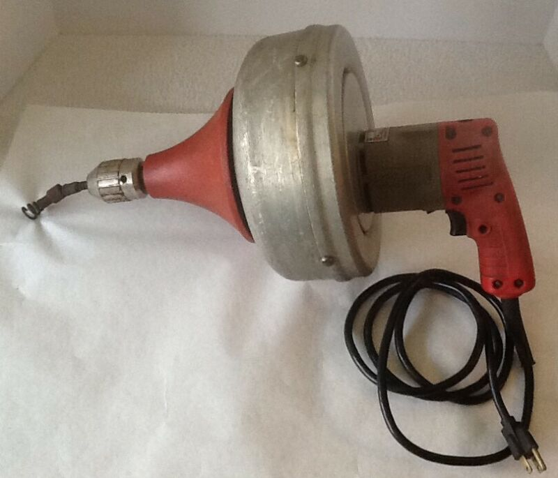 Milwaukee Heavy Duty Drain Cleaner Model 0566-1 Good Working Condition