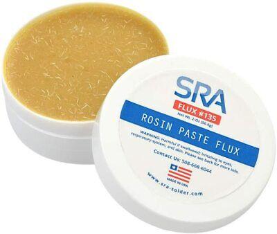 New Sra 135 Rosin Paste Solder Soldering Flux 2oz Jar 135 Usa Made