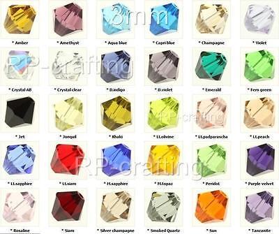 100 Austria bicone crystal beads 3mm for Swarovski #5301/5328-U pick colors #AB6 ()