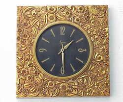 Kinda Ugly Kinda Cool VERY Vintage / Retro Syroco Wall Clock