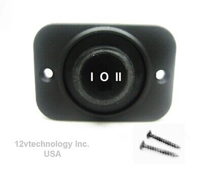 Double Circuit Waterproof Bellows Rocker Switch Center Off Spdt 12v On-off-on