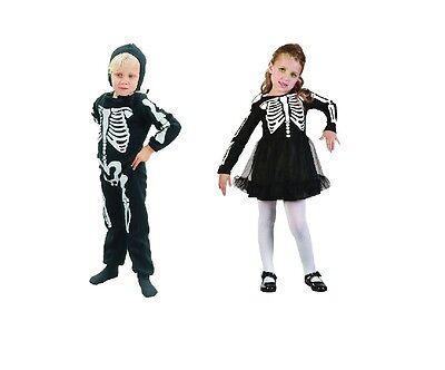 Skeleton Toddler #Girl / Boy Halloween Fancy Dress Costume Child 2-4 Years Old