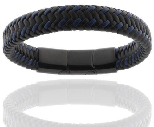 Leather Blue & Black Men