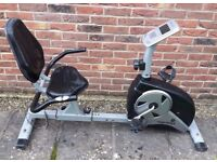 Roger Black Recumbent Exercise Bike With Digital Display