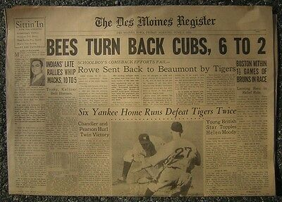 6 3 1938 The Des Moines Register Sports   6 Yankee Home Runs Defeat Tigers Twice