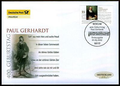 2592 FDC - Paul Gerhardt - Kirchenmusiker