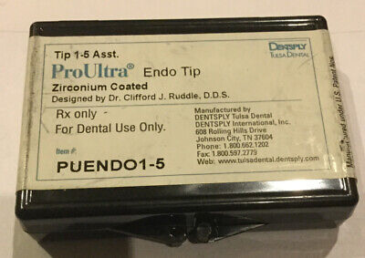 Dentsply Proultra Endo Assorted Tips 1-5 - Ultrasonic - Genuine - Endodontic