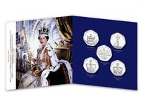 New 50p Coin set marks The Queens Sapphire Coronation Anniversary 65 Years 1953/2018