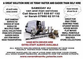 van and man Bridgend sameday4u service fast clean vans with blankets and tie down straps