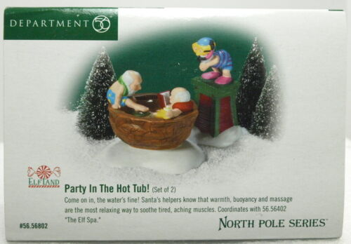 """DEPT 56 NORTH POLE VILLAGE SERIES """"PARTY IN THE HOT TUB"""" BRAND NEW C3"""