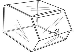 2 Acrylic bread roll or candy food Bin box With Lid
