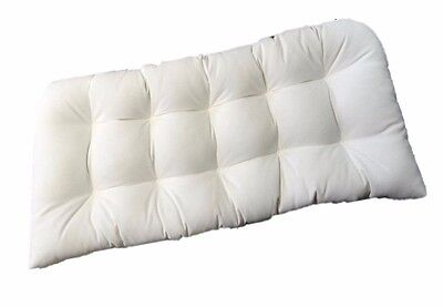 Settee Cushion Canvas (In / Outdoor Wicker Loveseat / Settee / Bench Cushion - Sunbrella Canvas)