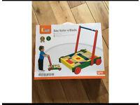 Brand new baby walker with blocks