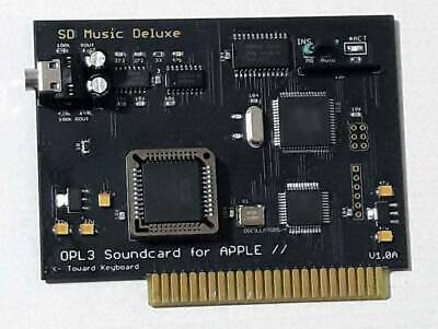 SD Music Deluxe card for APPLE II (Mockinboard + OPL3)