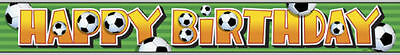 FOOTBALL THEME Happy Birthday Boys Party Banners Decorations 12ft FOIL BANNER