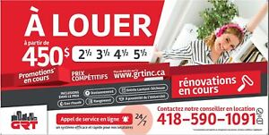 Promotion! Chicoutimi 5½ ; DISPO Maintenant
