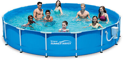 Metal Frame 15 x 33 Above Ground Swimming Pool Set W/ SkimmerPlus Filter Pump