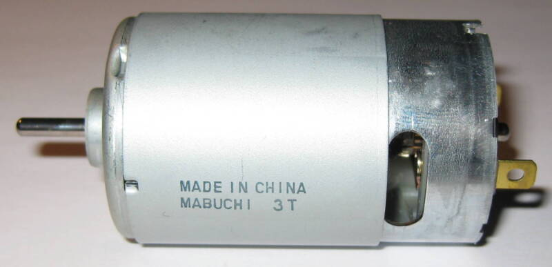 Mabuchi RS-555 PH - 6V DC - 2500 RPM - High Torque - 5 Pole - Hobby Motor