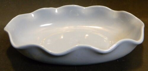 "Vintage Oval Blue Abingdon (564) Ruffle Edged Bowl 11"" x 7"" x 2.43"" Excellent"