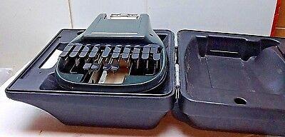 The Steno Stenographic Reporter Model Shorthand Machine Original Case Black Usa