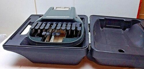 The Steno Stenographic Reporter Model Shorthand Machine Original Case Black USA