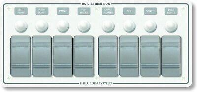 Contura Water Resistant 12v Dc Circuit Breaker Panel - White 8 Position 8271