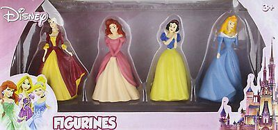 4 PRINCESSES FIGURINE PLAY SET 4 pc BEVERLY HILLS TOY COMPANY DISNEY NIP