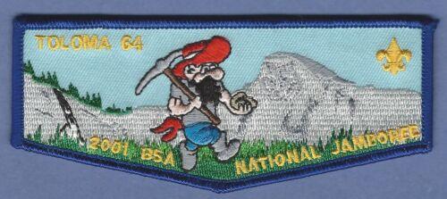 TOLOMA LODGE 64 CALIFORNIA 2001 NATIONAL JAMBOREE BOY SCOUT OA FLAP PATCH F2