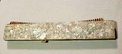 Vintage Hair Comb Retractable Hide Away Folding, Crushed Stone