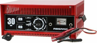 ABSAAR Batterieladegerät 30 Ampere 12/24 Volt mit Starthilfe Werkstattladegerät