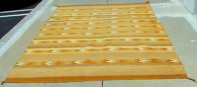 """HUGE 6'x10' Navajo Banded Goldtone Chinle Classic Revival Rug 118""""x 70"""" NrMint"""