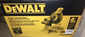 "Dewalt 12"" Double Bevel Sliding Compound Mitre Saw"