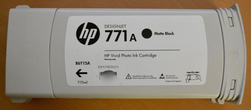 HP DesignJet 771A Matte Black Vivid Photo Ink Cartridge B6Y15A