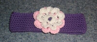 Brand New Crocheted Purple Flower Dog Collar For East Coast Corgi Rescue Charity