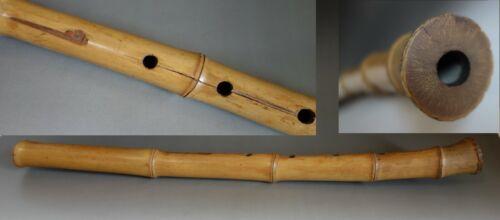 shakuhachi Japanese vertical bamboo flute musical instrument vintage showa #18