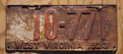 1923 West Virginia License Plate # 10 - 771