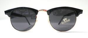 Retro-occhiali-da-sole-anni-039-70anni-039-70-VINTAGE-IN-NERO-Grigio-Unisex