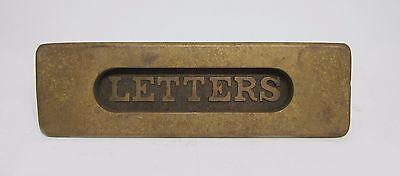 Antique Brass Letter Mail Slot