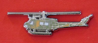UH1H HUEY HELICOPTER LAPEL BADGE ENAMEL & SILVER PLATING 35MM LONG WITH 2 PINS for sale  Shipping to United States