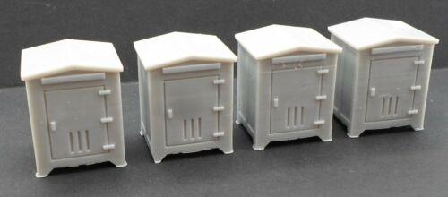 Modern Small Electrial Box 4pcs - HO Scale Model Railroad