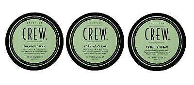 American Crew Forming Cream, Medium Hold  3.0 oz, Pack of 3