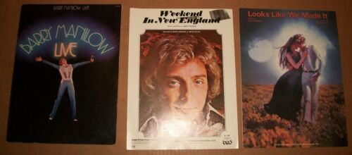 Live 1977 Barry Manilow sheet music rare +2 songs guitar piano 16 songs clean VG