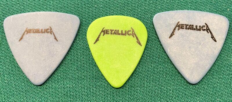 METALLICA Tour Guitar Picks! 2 Blue JASON NEWSTED Picks & James Hetfield Pick